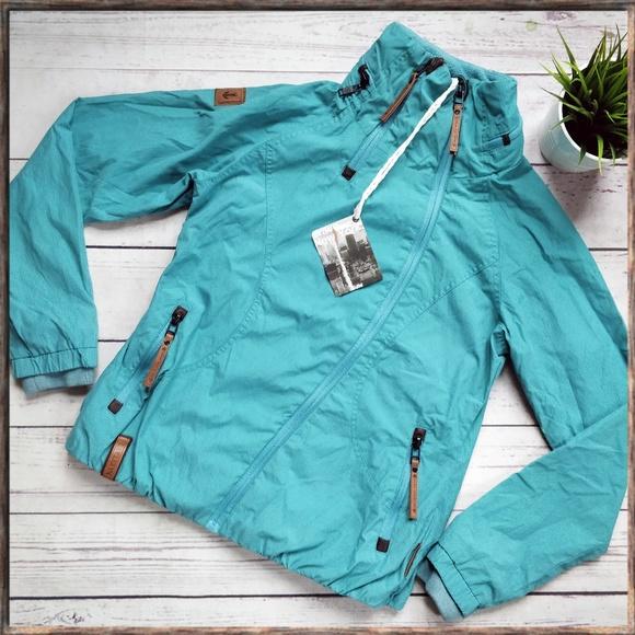 NWT NAKETANO Forrester Turquoise Zip Jacket L NWT